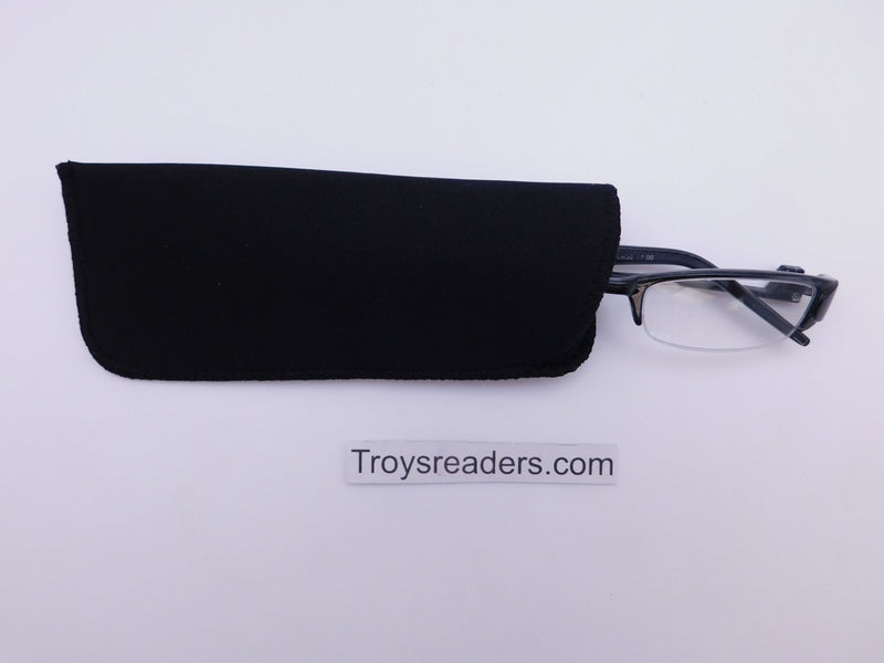 Black Neoprene Glasses Pouch Cases