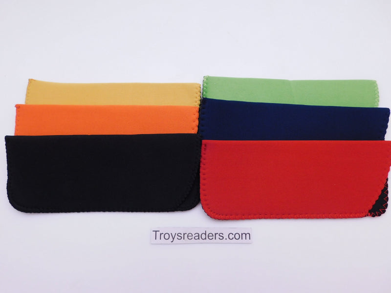 Black Neoprene Glasses Sleeve/Pouch in Six Colors Cases