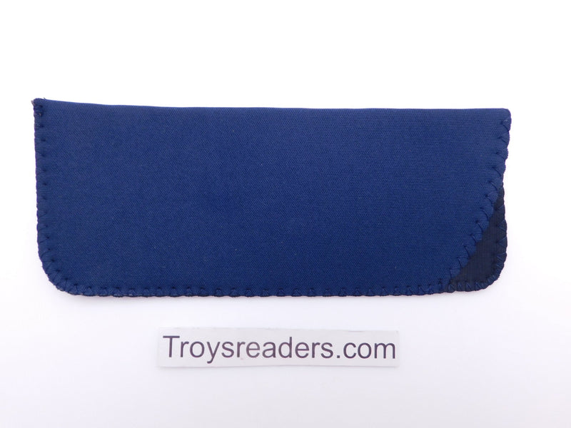 Black Neoprene Glasses Sleeve/Pouch in Six Colors Cases Navy Blue