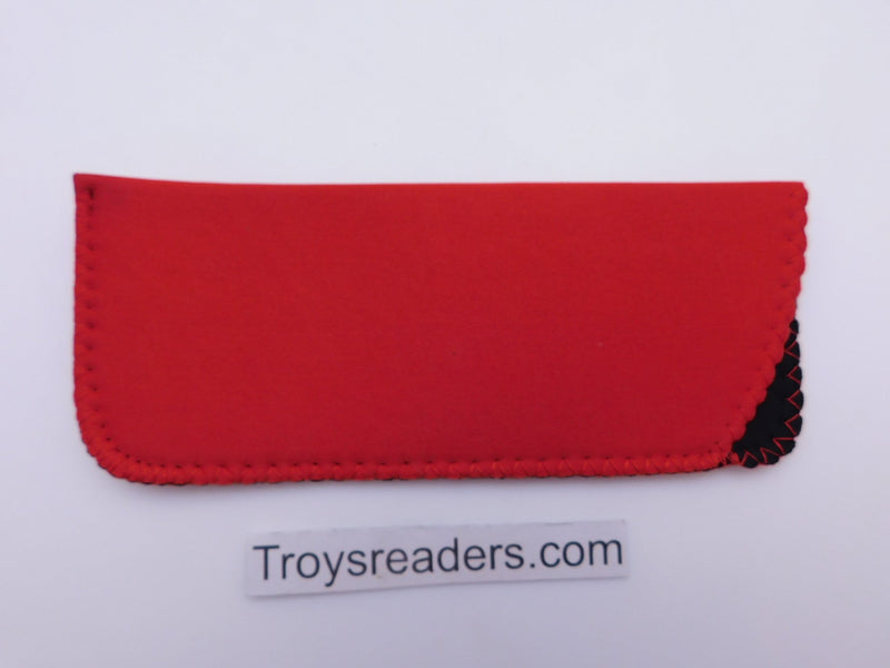 Black Neoprene Glasses Sleeve/Pouch in Six Colors Cases Red