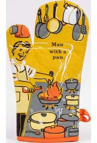 BlueQ Dish Oven Man With A Pan Pot Holder
