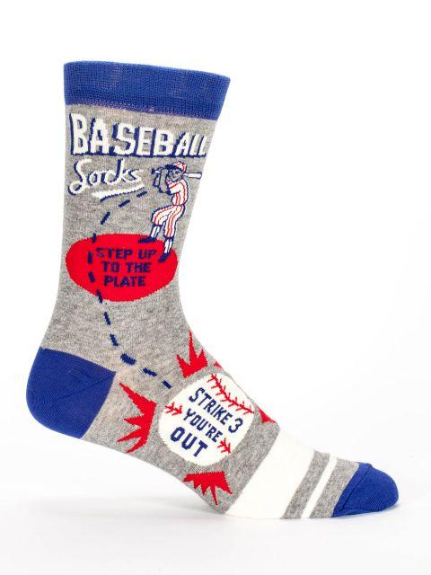 BlueQ Men Crew Socks Baseball Socks
