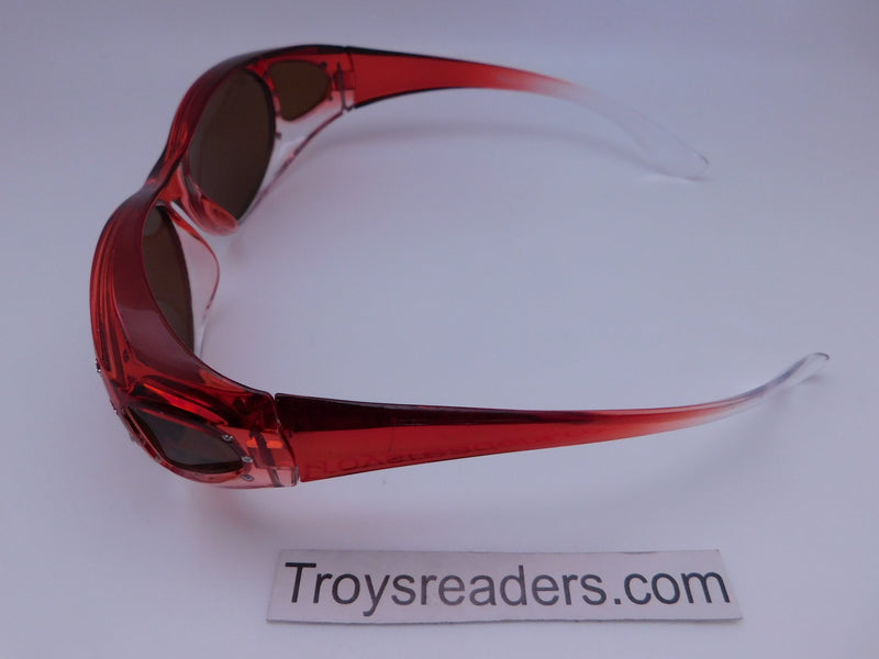 Bright Transparent Glitzy Polarized Fit Overs in Four Colors Fit Over Sunglasses