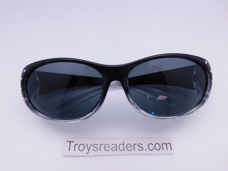 Bright Transparent Glitzy Polarized Fit Overs in Four Colors Fit Over Sunglasses Black Smoke