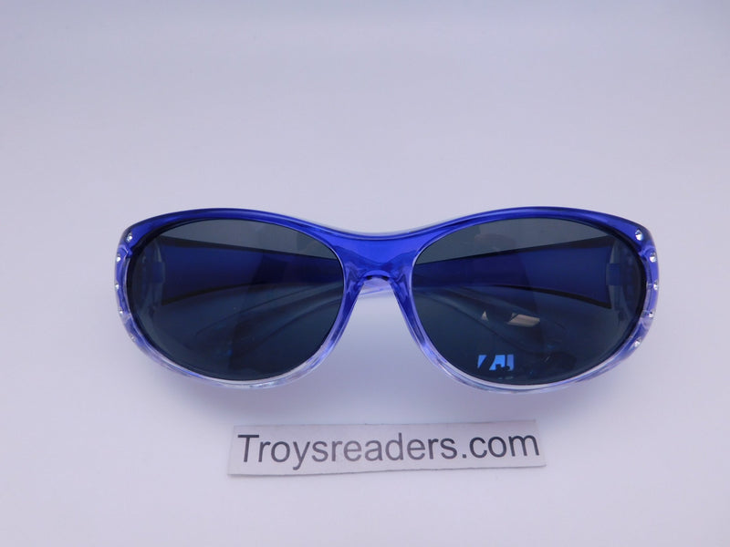 Bright Transparent Glitzy Polarized Fit Overs in Four Colors Fit Over Sunglasses Purple Smoke