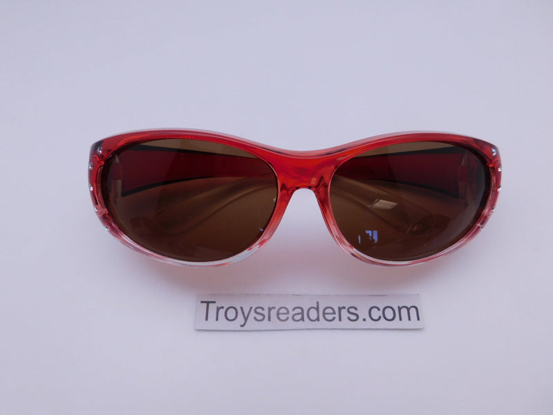 Bright Transparent Glitzy Polarized Fit Overs in Four Colors Fit Over Sunglasses Red Amber
