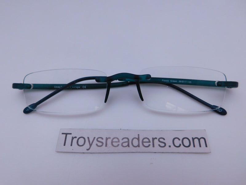 Cinzia Flooid Reading Glasses with Case in Four Colors Cinzia Green +1.50