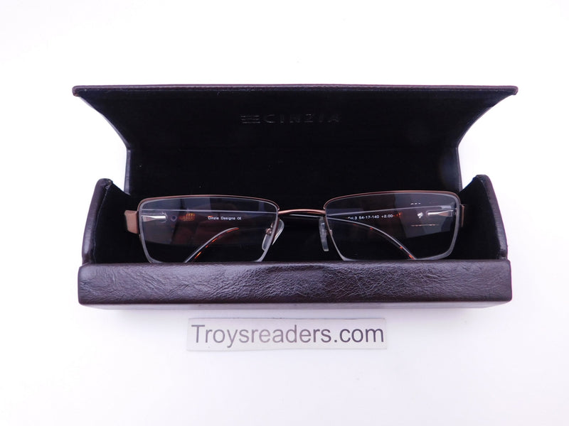 Cinzia Heist Readers with Case in Three Colors Single Power Reading Sunglass table