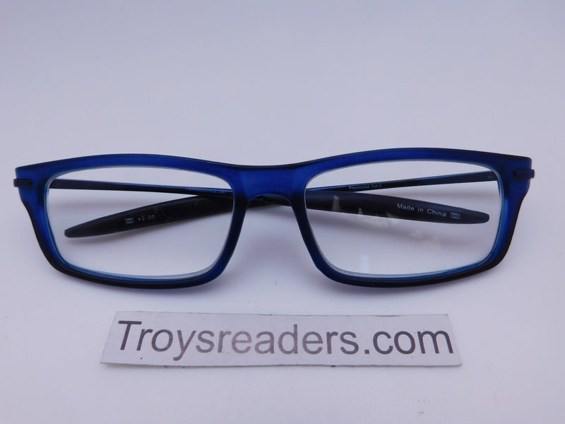 Cinzia Precocious Reading Glasses with Case in Three Colors Cinzia Blue +1.00