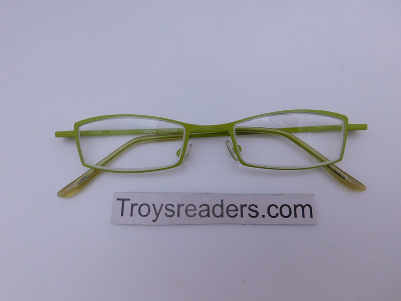 Cinzia Stripes Reading Glasses in Two Colors Cinzia Green +1.00