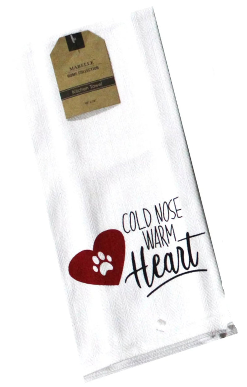 Cold Nose Warm Heart Dish Towel Dish Towel