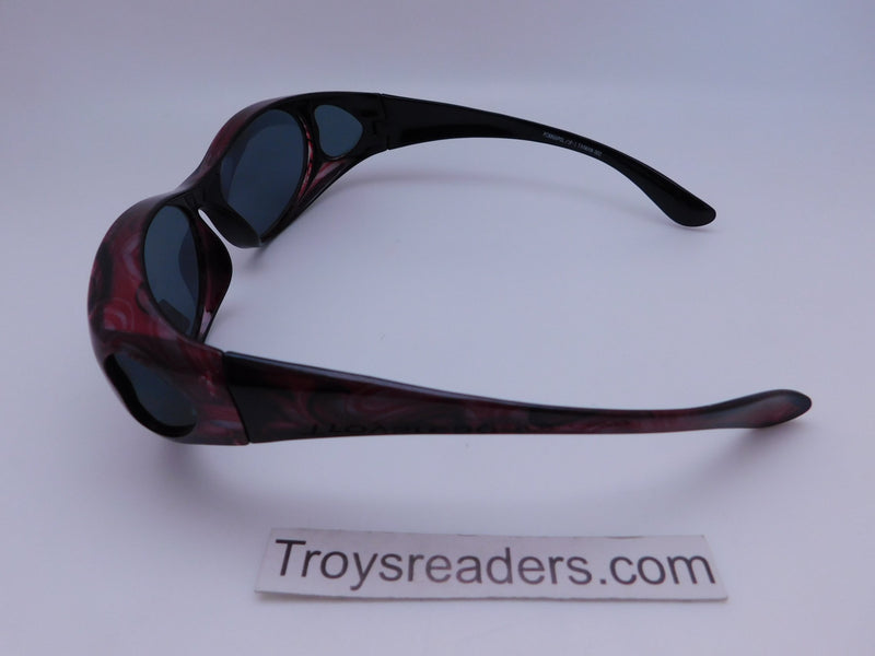 Colorful Fits-Over Sunglasses With Backspray in Four Designs Fit Over Sunglasses