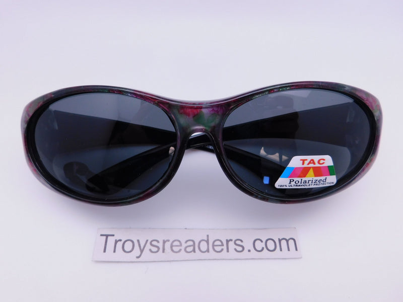 Colorful Fits-Over Sunglasses With Backspray in Four Designs Fit Over Sunglasses Roses