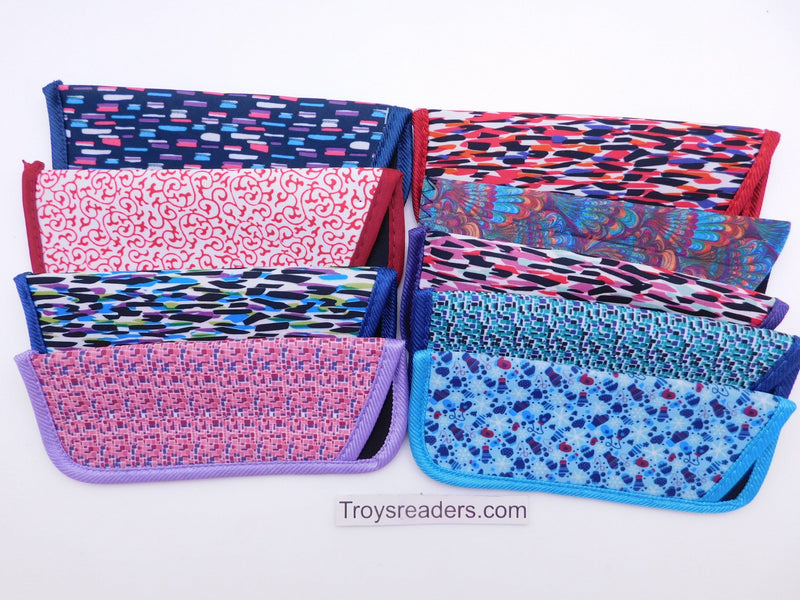 Colorful Light and Fun Prints Glasses Sleeve/Pouch in Nine Designs Cases