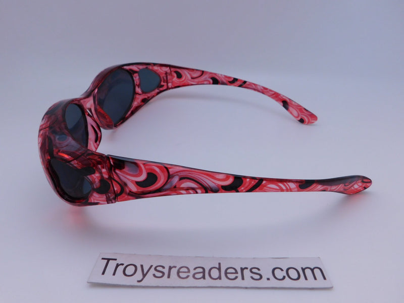 Colorful Translucent Fits-Over Sunglasses in Five Designs Fit Over Sunglasses