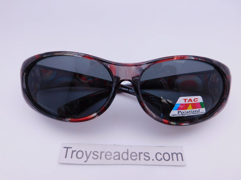 Colorful Translucent Fits-Over Sunglasses in Five Designs Fit Over Sunglasses Red and Black