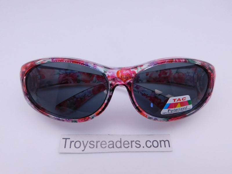 Colorful Translucent Fits-Over Sunglasses in Five Designs Fit Over Sunglasses Roses