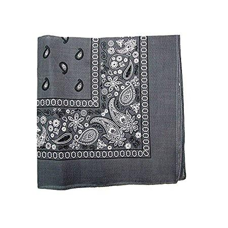 Dark Gray Bandana 100% Cotton Bandana