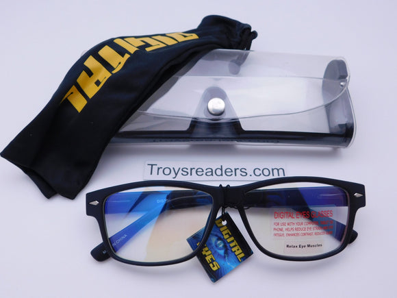 Digital Eyes Blue Light Blocking Glasses In Two Styles (No Strength) Reader with Display