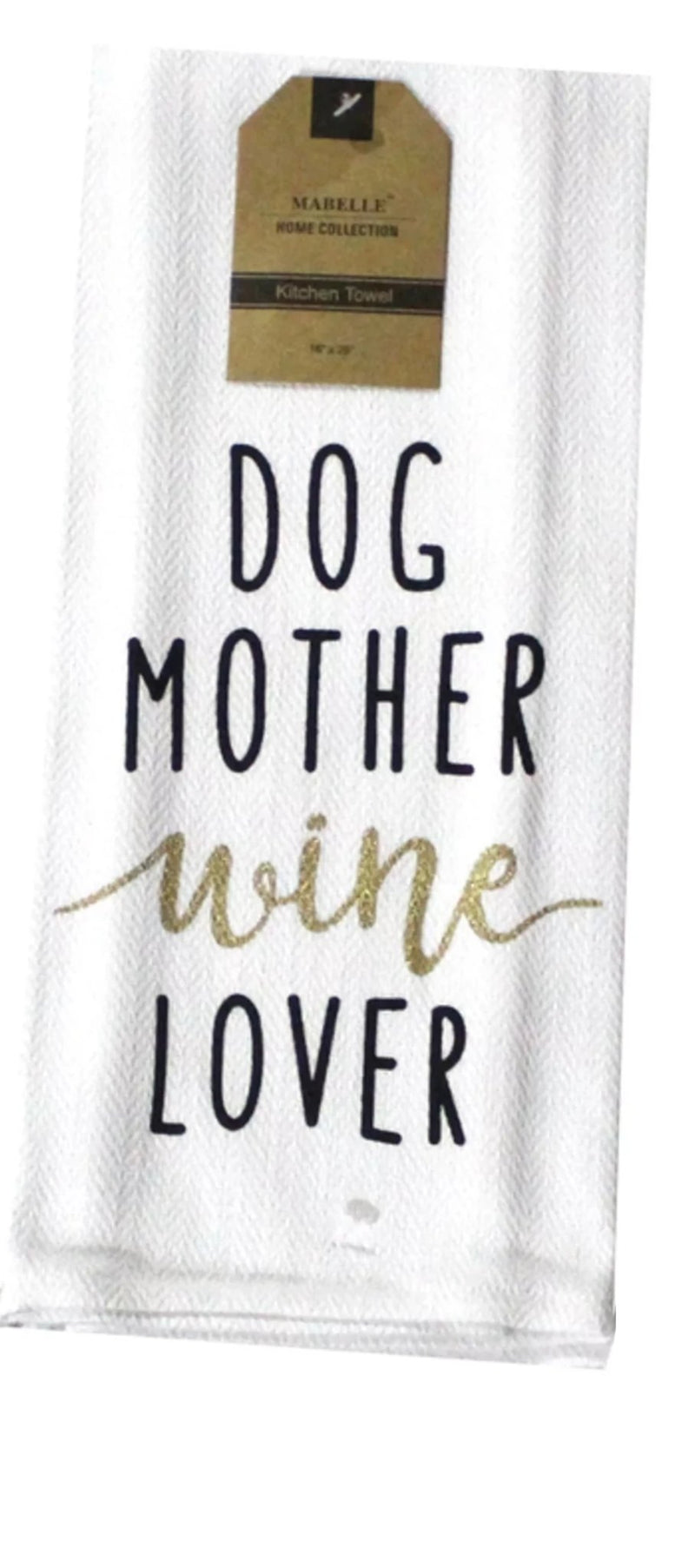 Dog Mother Wine Lover Dish Towel Dish Towel