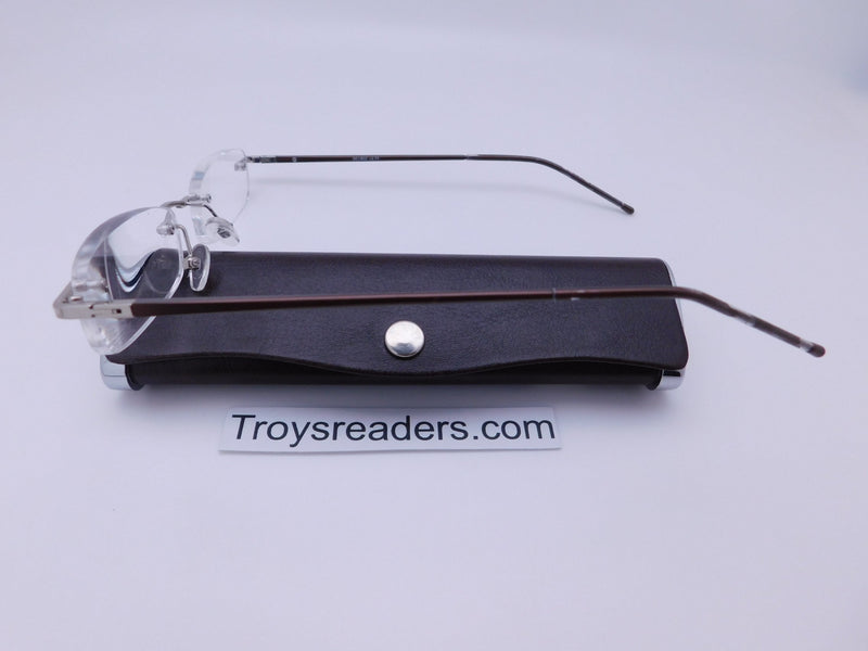 Double Color Rimless Aluminum Readers With Case in Five Colors Reader with Display