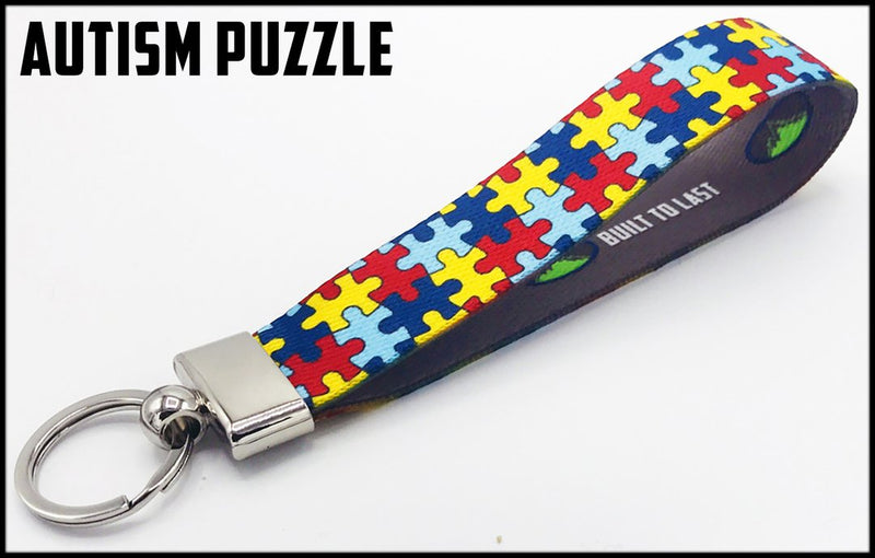 Executive Key Fob In 30 Styles Lanyard Autism Puzzle