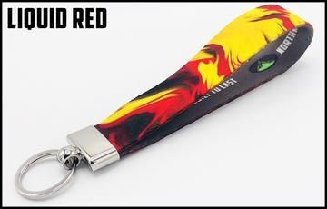 Executive Key Fob In 30 Styles Lanyard Liquid Red