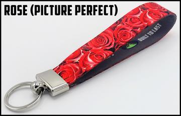 Executive Key Fob In 30 Styles Lanyard Rose (Picture Perfect)