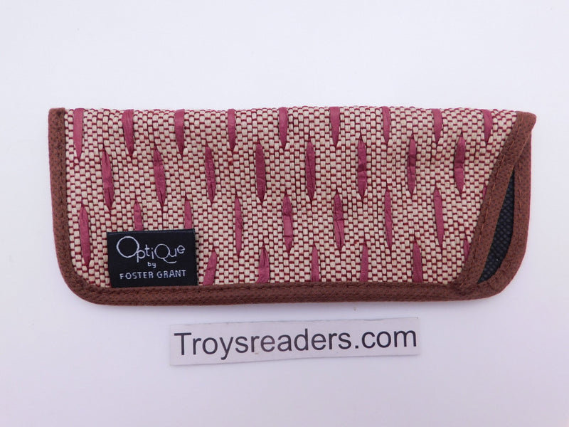 Fabric Glasses Sleeve/Pouch in Eleven Designs Cases Red Brown