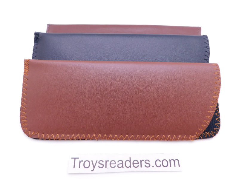 Faux Leather Glasses Sleeve Soft Case in Three Colors Cases