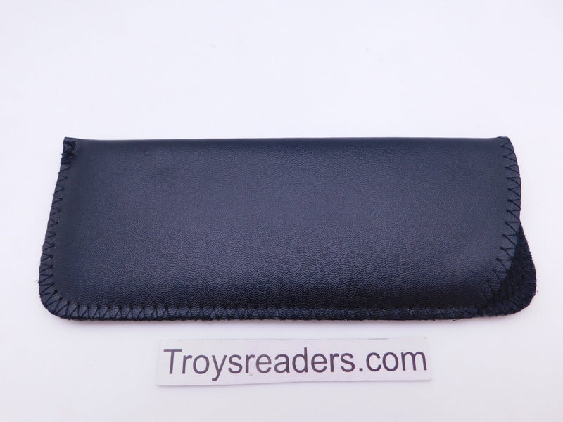 Faux Leather Glasses Sleeve Soft Case in Three Colors Cases Black