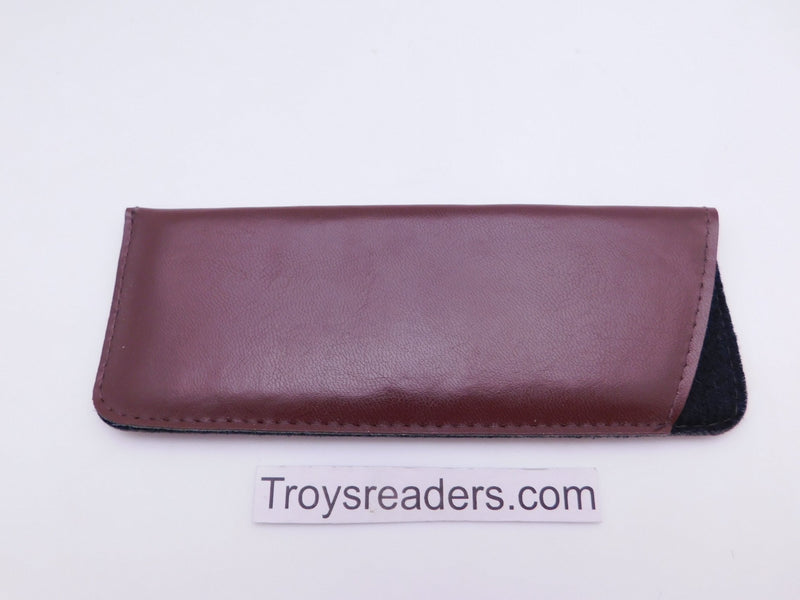 Faux Leather Glasses Sleeve Soft Case in Three Colors Cases Brown