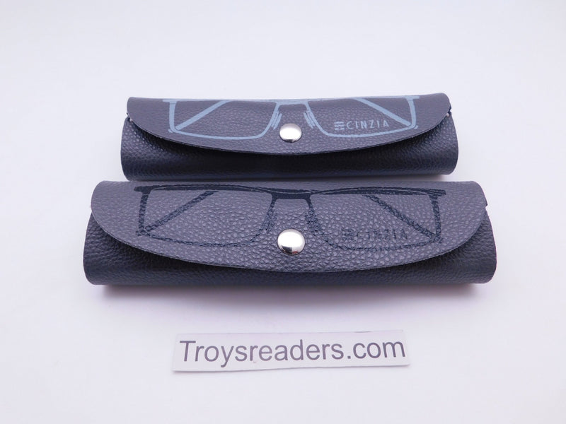 Faux Leather Gray Soft Case for Reading Glasses Cases