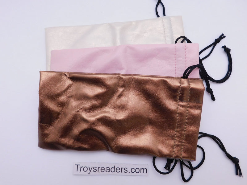 Faux Leather Pouch with String in Three Colors Cases