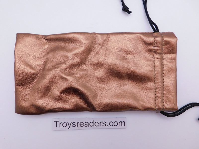 Faux Leather Pouch with String in Three Colors Cases Gold