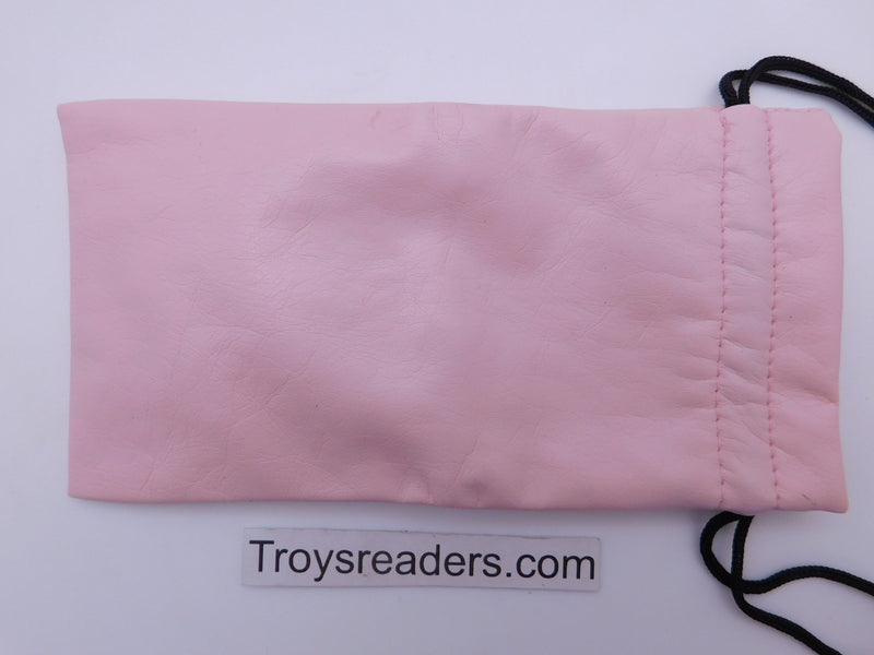 Faux Leather Pouch with String in Three Colors Cases Pink