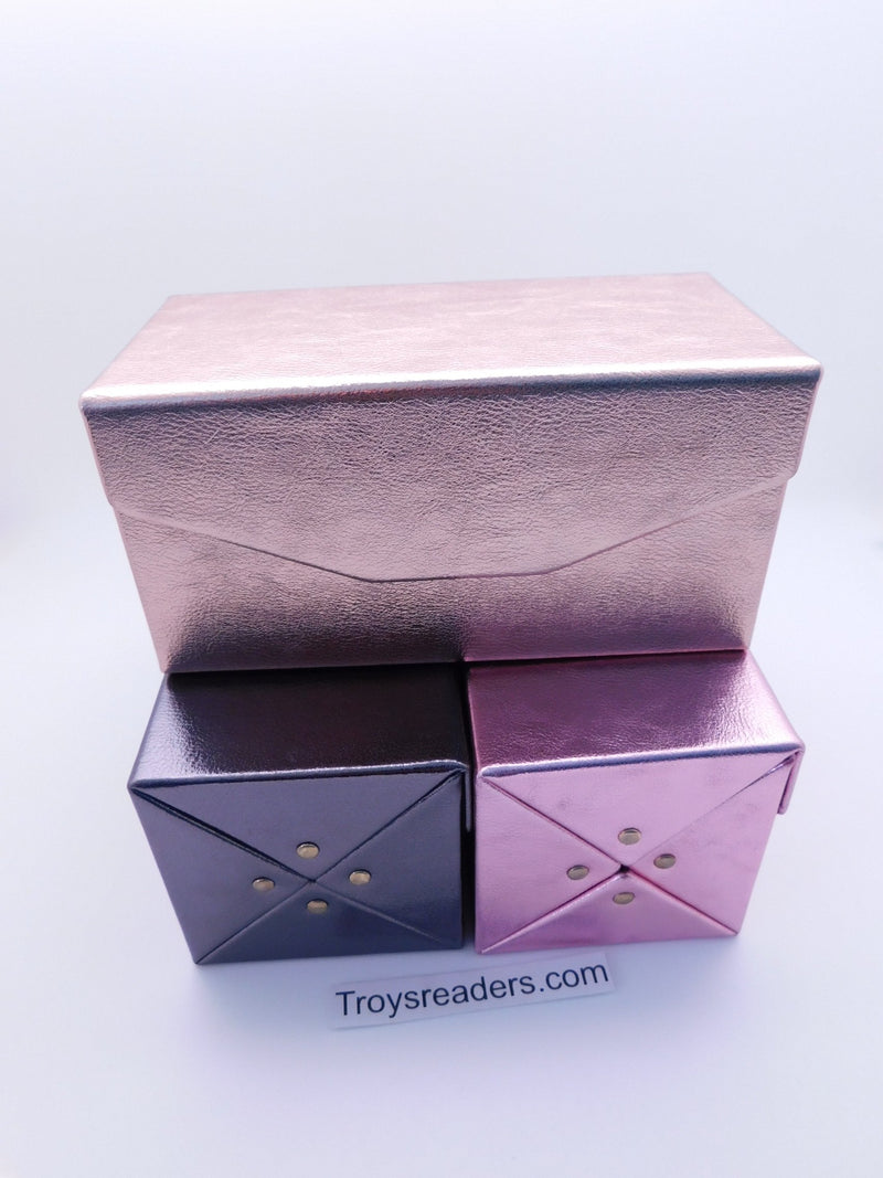 Four Piece Fold Up Glasses Case In Three Colors Cases