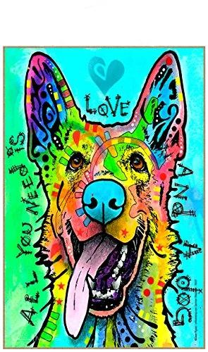 German Shepherd, All You Need Is Love And A Dog Wood Magnet Wood Magnet