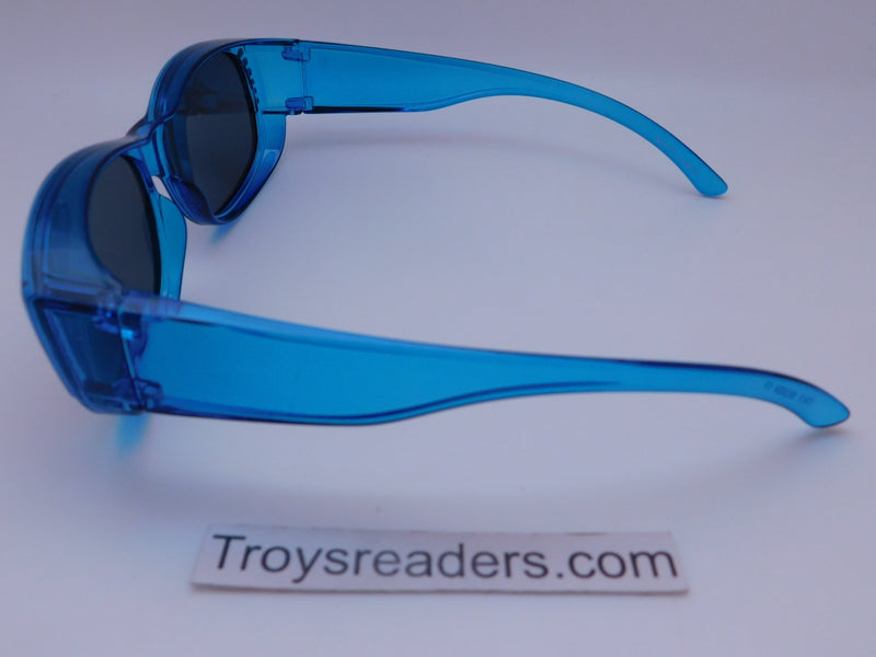 Glitz Colorful Transparent Fit Overs in Six Colors Fit Over Sunglasses