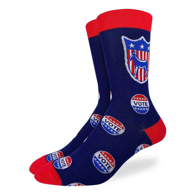 Good Luck Socks Men Crew Vote Democrat Socks