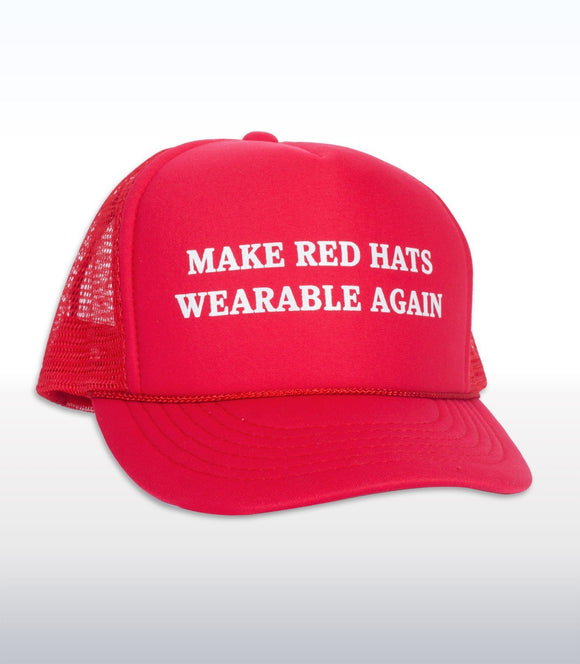 Headline Make Red Hats Wearable Again Trucker Cap Hats