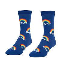 Headline Unisex L/XL Crew Socks Gay AF Socks