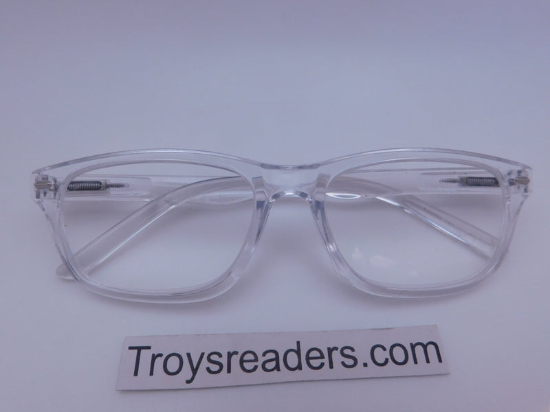 Wayfare Spring Temple Reader in Three Colors Reader no Case Clear +3.25