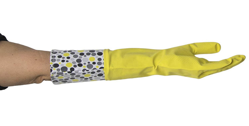 Krumbs Kitchen Rubber Gloves In Yellow Dots Rubber Gloves