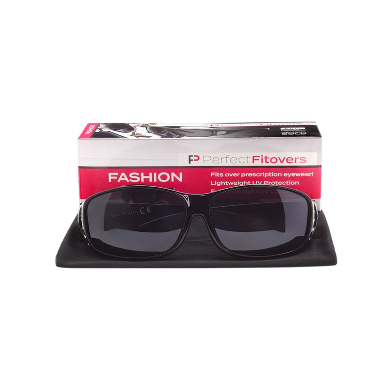 Ladies UV Fitover Sunglasses with Cloth Case Fit Over Sunglasses