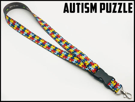 Lanyard In 21 Styles Lanyard Autism Puzzle