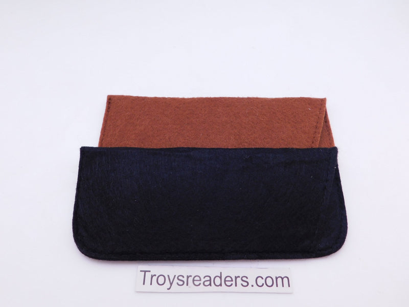 Large Felt Glasses Sleeve/Pouch in Two Colors Cases