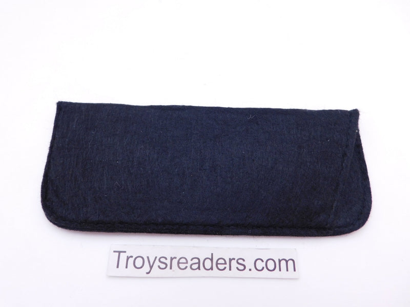 Large Felt Glasses Sleeve/Pouch in Two Colors Cases Black