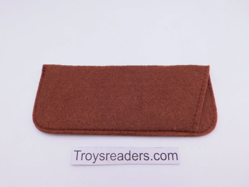 Large Felt Glasses Sleeve/Pouch in Two Colors Cases Brown