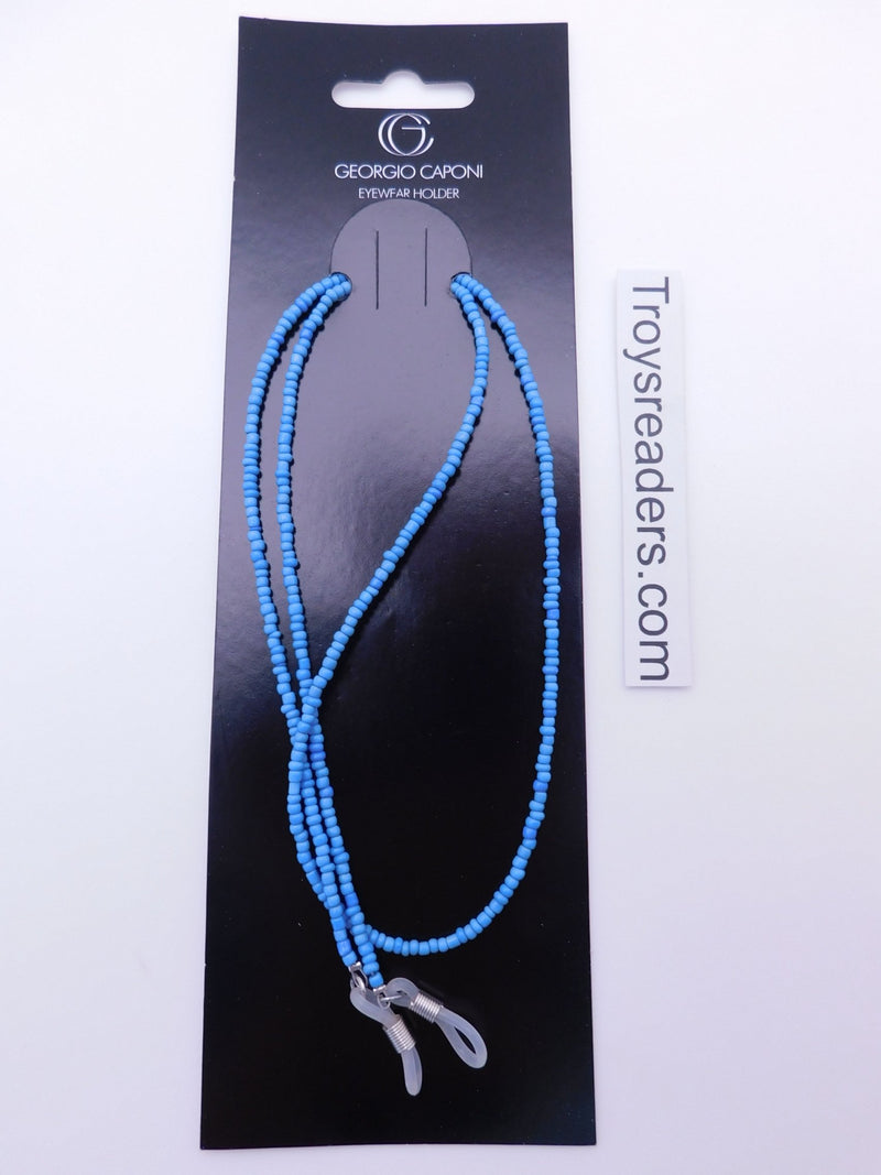 Light Blue Beads Chain Eyewear Holder Cords